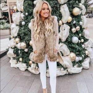 Zara Trafaluc Outerwear Faux Fur Vest Sz Small